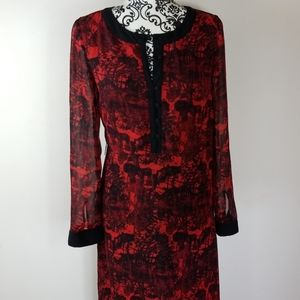 Women's Kensie XS Full length red & black dress